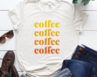 73b4156a UNISEX Coffee Lover Gift - Coffee Shirt - Coffee Tee Women - Coffee Tee Men  - Coffee Tee - Morning Coffee - Gift for Barista - Barista Shirt