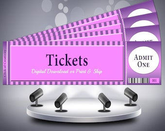 event banquet tickets printed with sequential numbering andor perforated ticket stub
