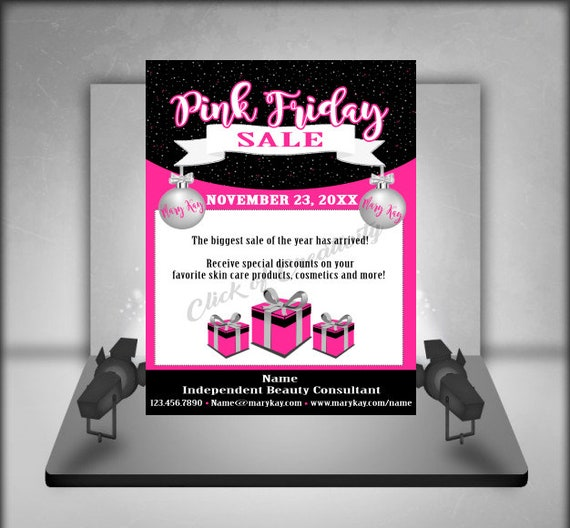 Mary Kay Christmas Images.Mary Kay Pink Friday Sale Mary Kay Sale Mary Kay Christmas Sale Mary Kay Pink And Black Postcard Pink And Black Advertising Postcard
