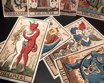 TRIONFI della LUNA English Text Tarot - 92 cards/SIGNED Preorder