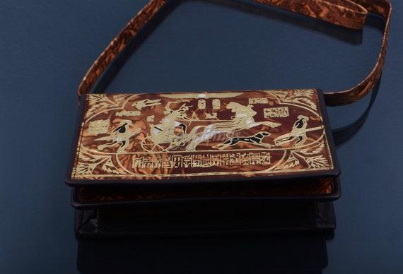 Amazing Egyptian Handcrafted Genuine Leather Purse Horus Bag