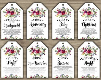 photo relating to Free Printable Wine Tags for Bridal Shower known as Bridal shower wine Etsy