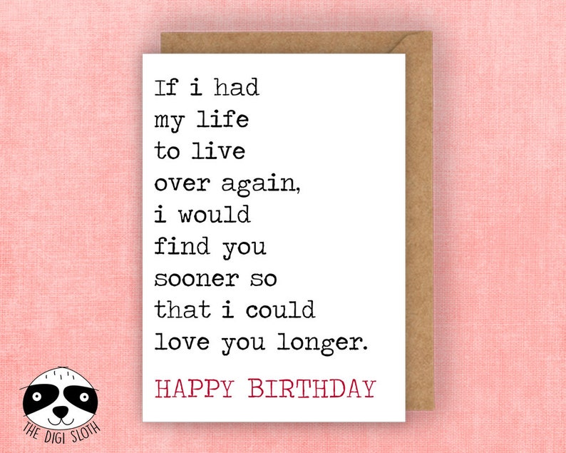 For The One I Love Birthday Card Happy If