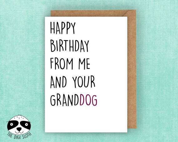 Funny Birthday Card Granddog Dog Mum Mom From