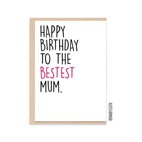 Geburtstagskarte Schreiben Lustig.Lustige Geburtstagskarte Mama Happy Birthday To The Best Mum Fun Card For Mum Mom Mother Dsb064