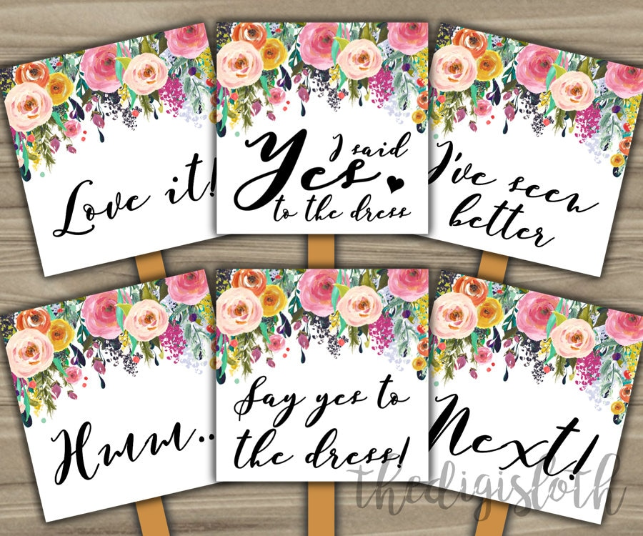 Say Yes To The Dress INSTANT DOWNLOAD Bridal Shower Game