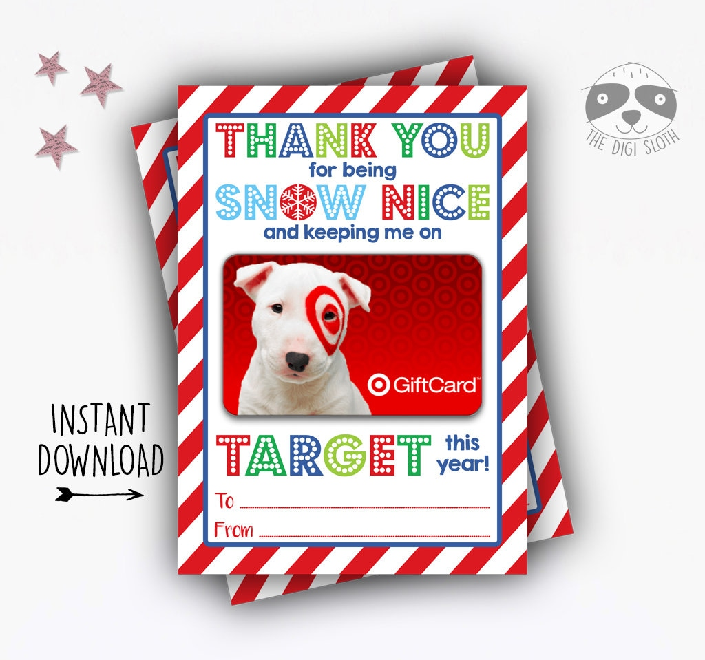 PRINTABLE Christmas Gift Card Holder INSTANT DOWNLOAD End