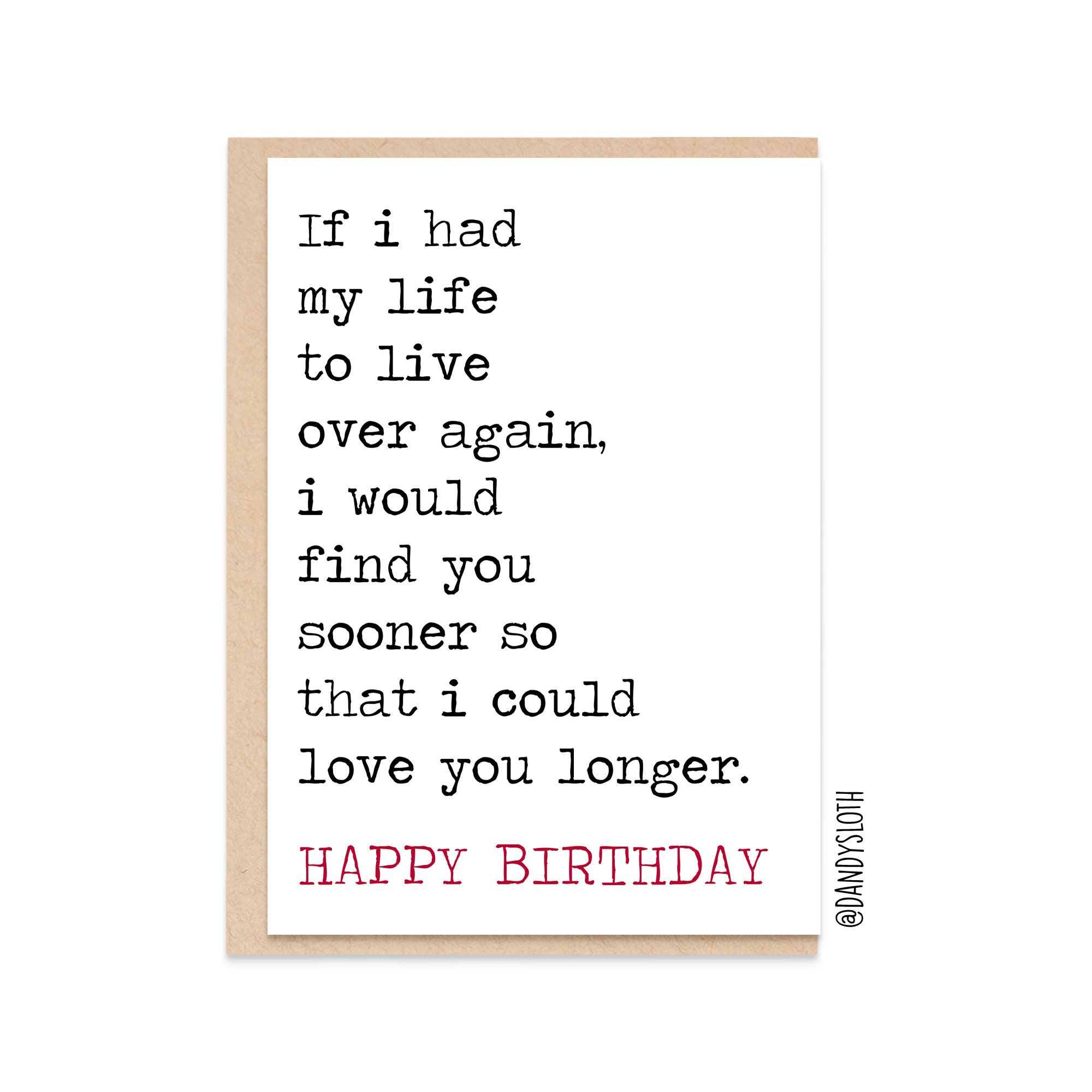 Amazing Find You Sooner Love You Longer Romantic Birthday Card For Etsy Personalised Birthday Cards Paralily Jamesorg