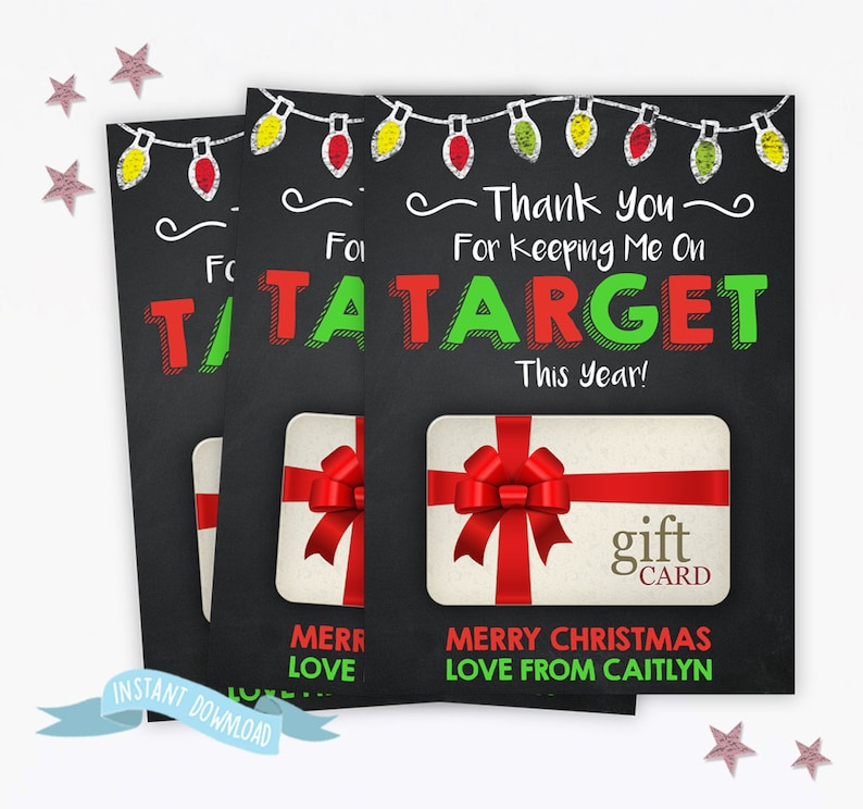 Printable Personalized Christmas Gift Card Holder Target End Etsy