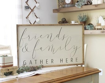 living room ~Gathering Room~ PRIMITIVE COUNTRY RUSTIC SIGN Family Star cabin