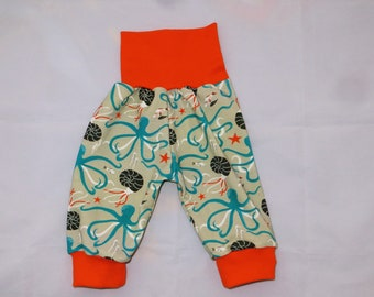 Baby Pants 50 56 Beige Orange Marine World