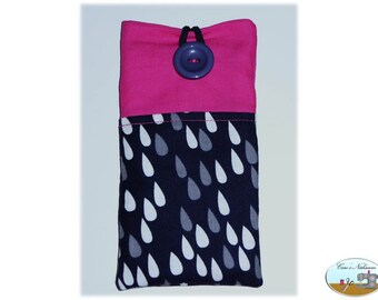 Phone case, smartphone case drops blue pink