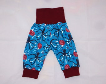 Baby Pants 50 56 Blue Dark Red Marine World