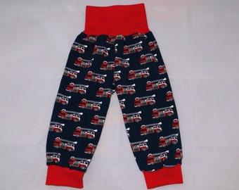 Pump pants 74 80 fire brigade car navy blue red