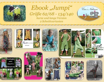 "Ebook, Nähanleitung, ""Jumpi"", Jumpsuit für Kinder, Gr. 62/68 - 134/140"