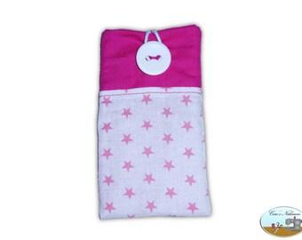 Phone case, smartphone case stars pink white