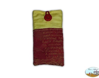 Phone case, smartphone case vintage red yellow