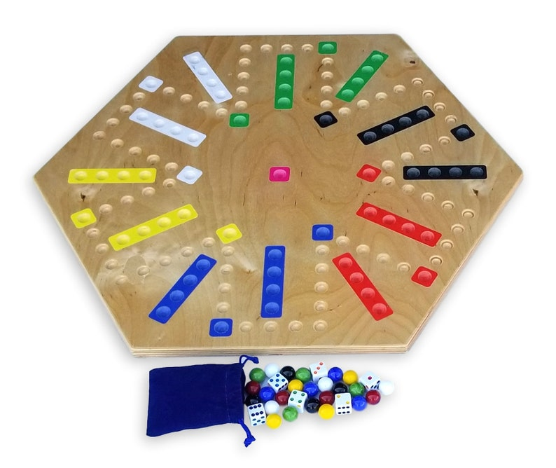 Amish Made 22 Wooden Aggravation Wahoo Marble Game Board Double Sided By Amishtoyboxcom