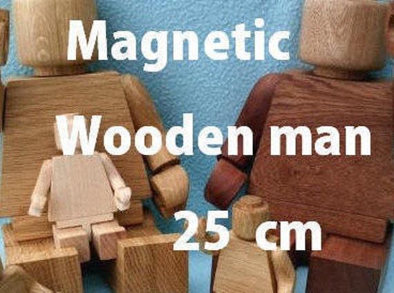 Magnetische Holz Mann 25cm Holz Spielzeug Weihnachten | Etsy