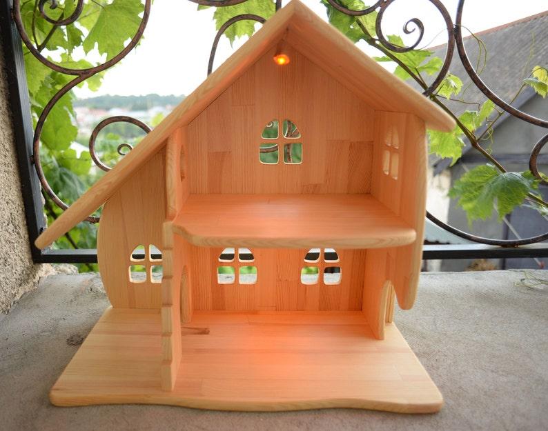 Casa delle bambole in legno senza mobili natale regalo etsy