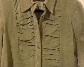 Beige leather shirt