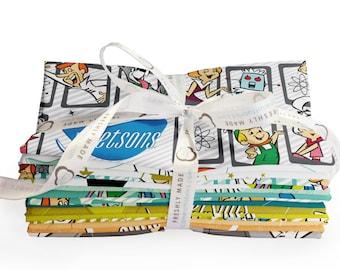 The Jetsons Fat Quarter Bundle, 15 Pieces, Camelot Fabrics, Precut Fabric, Quilt Fabric, Cotton Fabric, Novelty Fabric, Cartoon Fabric