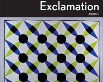 Exclamation Quilt Pattern, Swirly Girls, Quilt Pattern