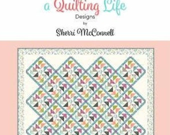 Flight Quilt Pattern #193, Sherri McConnell, A Quilting Life Designs, Quilt Pattern, Fat Quarter Quilt, Fat Eighth Quilt