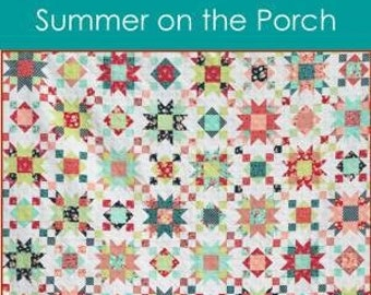 Summer on the Porch Quilt Pattern, Myra Barnes, Busy Hands, Quilt Pattern, Star Pattern