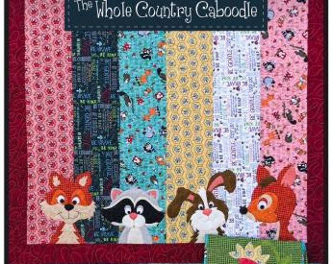 Woodland Critter Quilt Applique Pattern, Leanne Anderson, The Whole Country Caboodle, Woodland Applique