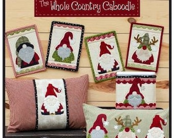 Holly Jolly Gnomes Applique Pattern, #37, Leanne Anderson, The Whole Country Caboodle, Gnome Applique