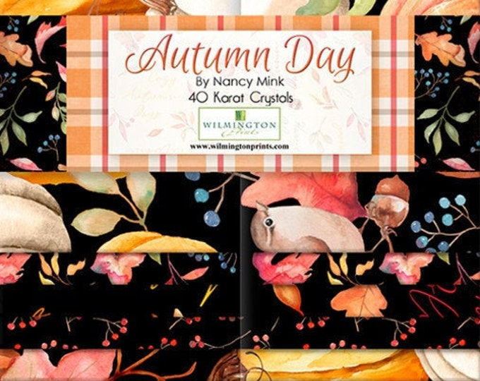 Autumn Day 2-1/2 Inch Strips Jelly Roll, Nancy Mink, Wilmington Prints, Cotton Quilting Fabric, Autumn Fabric