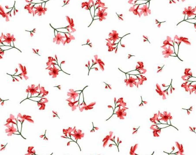Prose Ultra White Little Flowers Fabric Yardage, Maywood Studio, Cotton Quilting Fabric, Floral Fabric