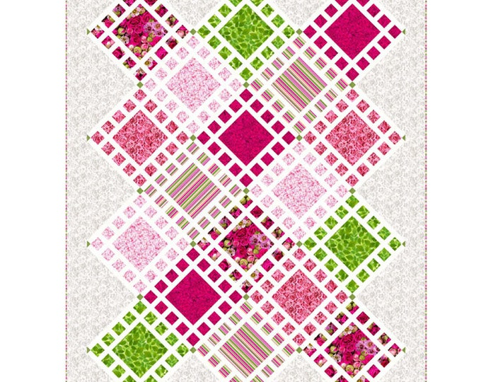 Budding Romance Aliquot Quilt Pattern, Lisa Routh Alley, Bearhug Quiltworks