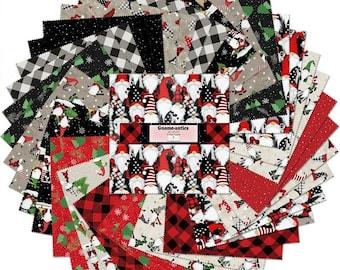 Gnome-antics 10-Inch Squares Layer Cake, Jennifer Pugh, Wilmington Prints, Cotton Quilt Fabric, Gnome Fabric