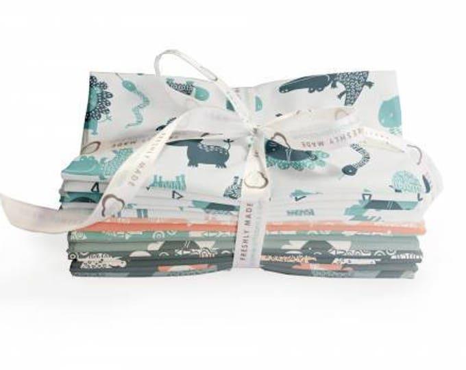Wild One Fat Quarter Bundle Precut Cotton Quilting Fabric, Baby Fabric, 15 Pieces, Andrea Turk, Camelot Fabrics.