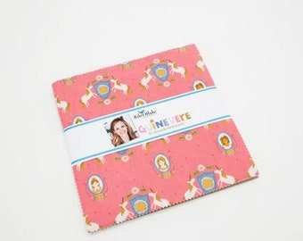 Guinevere 10 Inch Squares Layer Cake Cotton Quilting Fabric, Novelty Fabric, 42 Pieces, Rachel Erickson, Riley Blake.