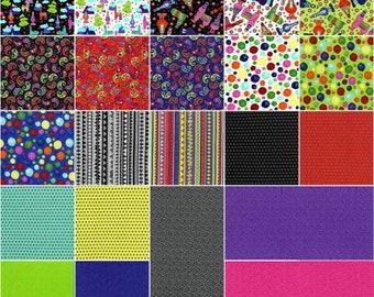 Llama Llama Bo Bama 5-Inch Squares Charm Pack Precut Cotton Quilting Fabric, Llama Fabric,42 Pieces, Sue Marsh, RJR Fabrics,
