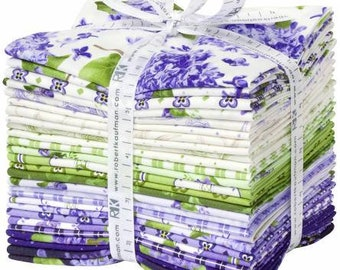 Elizabeth Fat Quarter Bundle, 27 Pieces, RFK Collection, Robert Kaufman, Precut Cotton Quilting Fabric, Floral Fabric