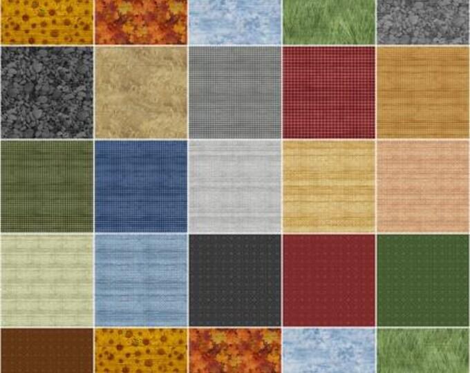 The Land I Love 5-Inch Squares Charm Pack, 42 Pieces, Lori Dieter, Benartex, Precut Cotton Quilt Fabric, Landscape Fabric