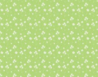 Strawberry Honey Flowers Keylime Fabric Yardage, Gracey Larson, Riley Blake Designs, Cotton Quilt Fabric, Floral Fabric