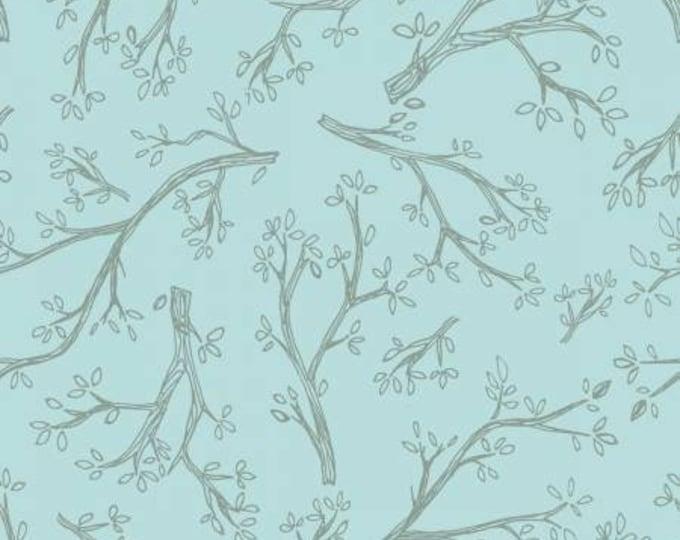 Remnant 1-Yard Light Sky Tonal Cotton Quilting Fabric, Spring Robins Collection, Teresa Magnuson, Clothworks.
