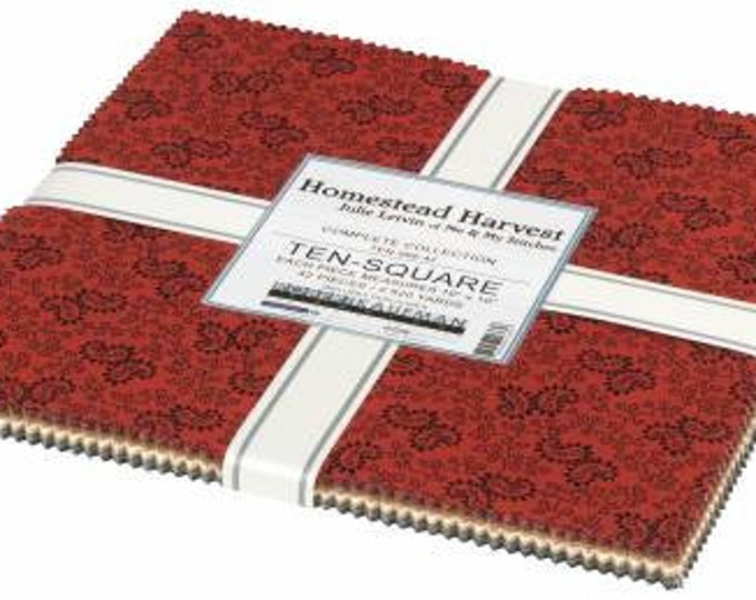 Homestead Harvest 10-Inch Squares Layer Cake, 42 Pieces, Julie Letvin Collection, Robert Kaufman, Precut Cotton Quilting Fabric