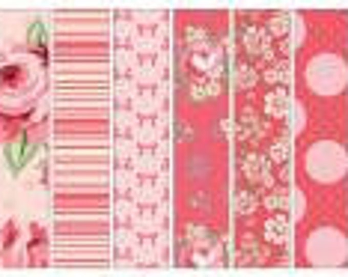 Dots & Posies 2-1/2 Inch Strips Jelly Roll, 40 Pieces, Sheri McCulley, Poppie Cotton, Cotton Quilt Fabric, Floral Fabric