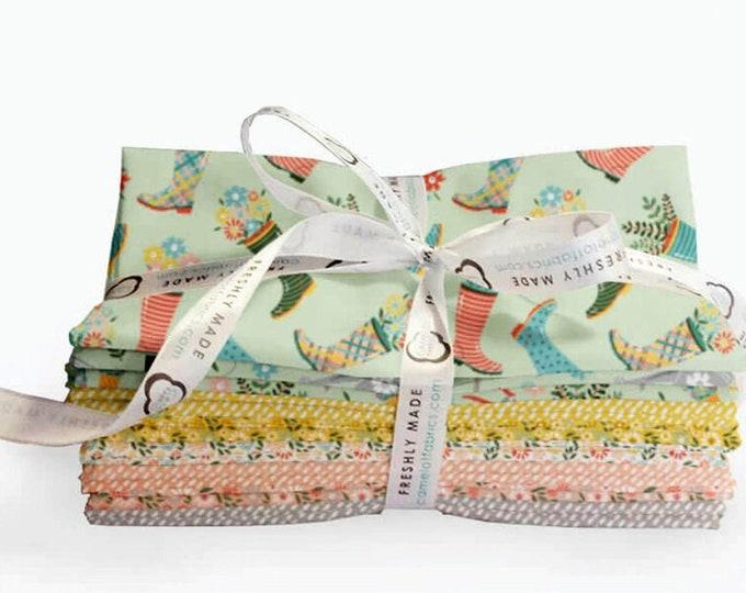 Wish for Rain Fat Quarter Bundle, 11 Pieces, Precut Cotton Quilting Fabric, Floral Fabric, Puck Selders, Camelot Fabrics