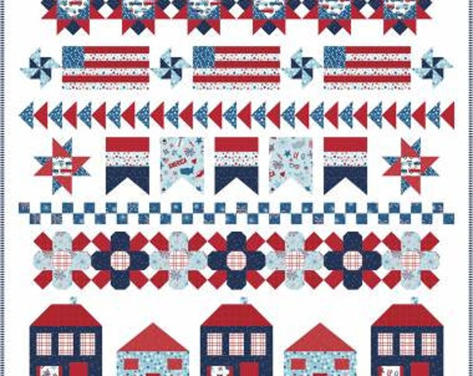 Let Freedom Ring Quilt Pattern, Lindsey Weight, Primrose Cottage, Row-by-Row Quilt Pattern