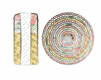Wish for Rain 2-1/2 Inch Strips Jelly Roll, Precut Cotton Quilting Fabric, Floral Fabric, 42 Pieces, Puck Selders, Camelot Fabrics
