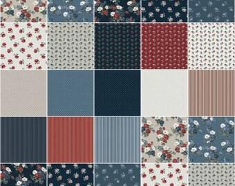 Camilla Fat Quarter Bundle, 18 Pieces, Whistler Studios, Windham Fabrics, Precut Cotton Quilting Fabric, Floral Fabric