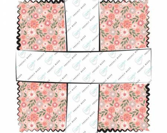 Wish for Rain 10-Inch Squares Layer Cake, Precut Cotton Quilting Fabric, Floral Fabric, 42 Pieces, Puck Selders, Camelot Fabrics