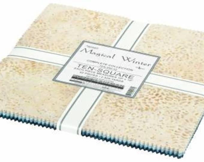 Magical Winter Batik 10-Inch Squares Layer Cake, 42 Pieces, Lunn Studio, Robert Kaufman, Cotton Quilt Fabric, Batik Fabric